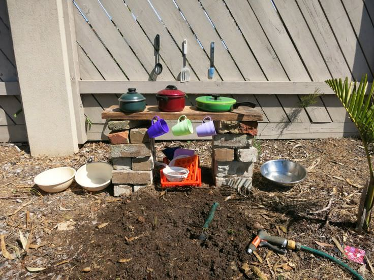 mud kitchen for children