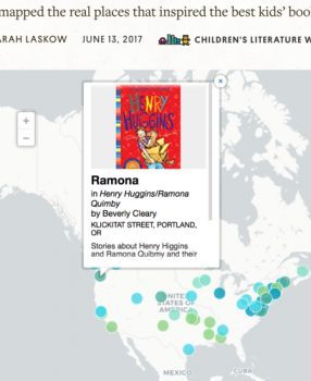 Map: Real places that inspired the best kids' books!
