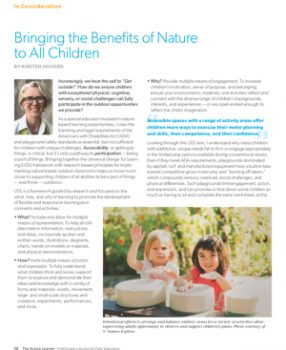 UDL and Nature-based Play